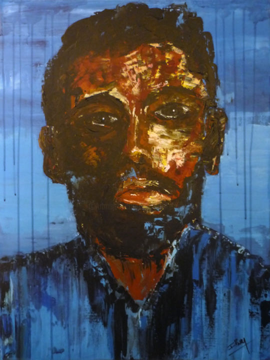 AUTOPORTRAIT - Painting,  800x600x30 cm ©2014 by igor BILLY -
