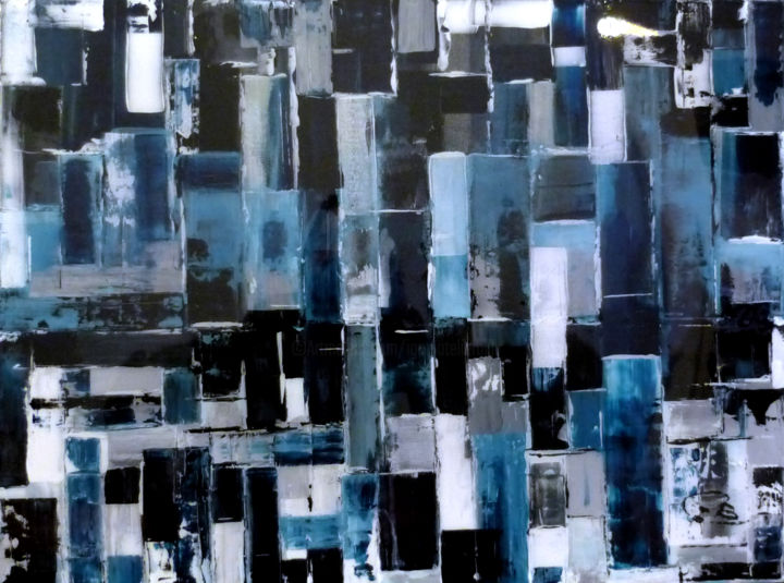 URBAN - Painting,  800x600x30 cm ©2012 by igor BILLY -                        Abstract Art