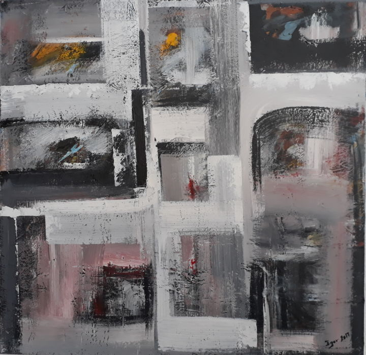 COMPOSITION - Painting,  600x600x20 cm ©2017 by igor BILLY -                                        Abstract Art, Architecture
