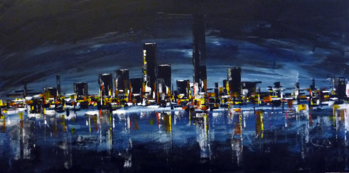 ELODIE - Painting,  600x800x30 cm ©2012 by igor BILLY -                        Architecture