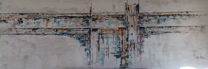 PONT - Painting,  500x1,500x30 cm ©2010 by igor BILLY -                                        Abstract Art, Architecture