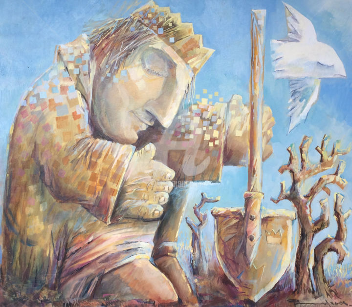 the gardener painting 75x65 cm 2008 by igor filippov figurative art