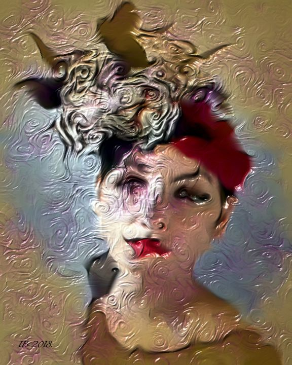 ... Miss Universe! Portraits Contemporary Art # 20 - © 2018 Portraits Collection, Contemporary Art, Figurative Mix, in Fine, Photo Painting, Abstract/Expressionism Online Artworks