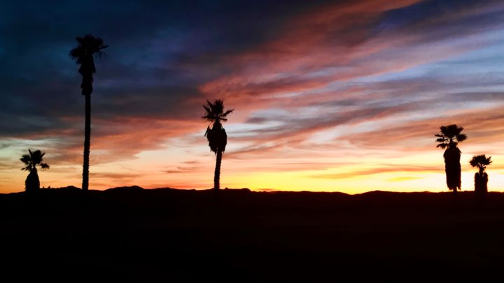 """Photography titled """"Palm Desert Sunset"""" by Igzotic, Original Art, Digital Photography"""