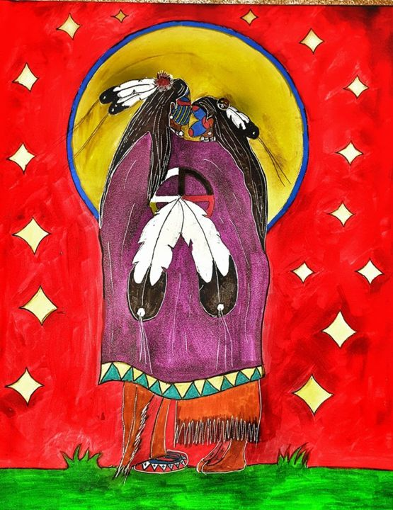Sioux-lovers Painting by Ikce Wicasa | Artmajeur