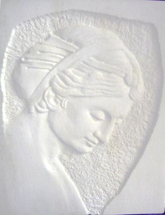 """Sculpture titled """"Madonna"""" by Andreevi, Original Art, Stone"""