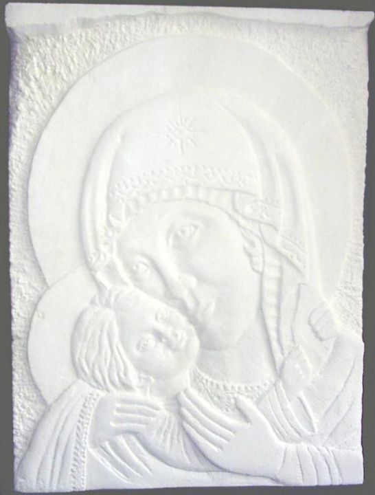 """Sculpture titled """"Madonna and child"""" by Andreevi, Original Art,"""
