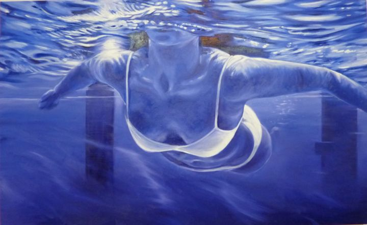 """Painting titled """"Immersion"""" by Peter Illig, Original Art, Oil"""
