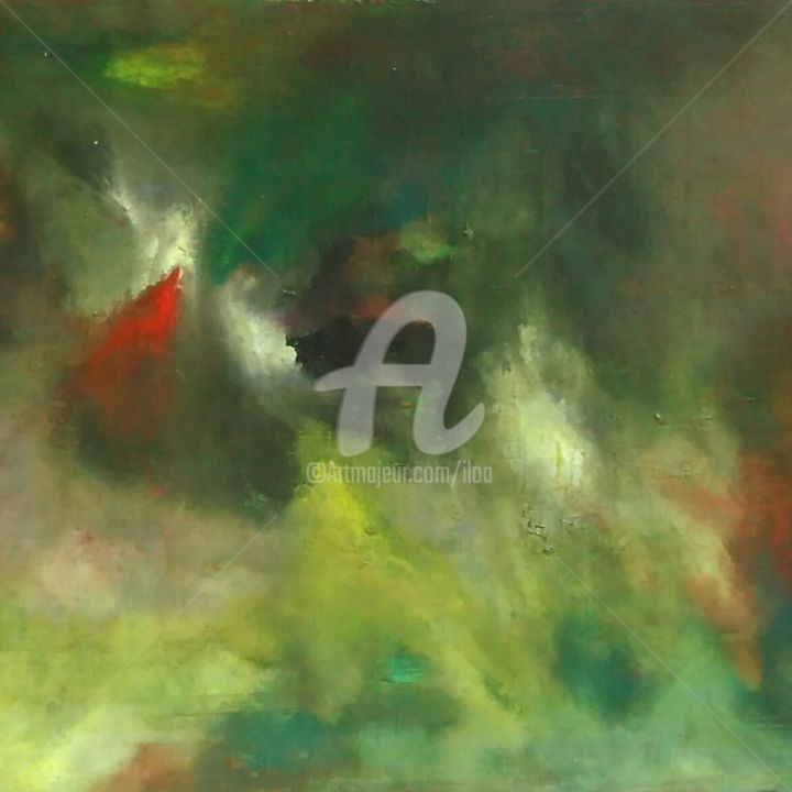 Miroir... - Painting, ©2018 by Iloa -                                                                                                                                                                          Abstract, abstract-570, Abstract Art
