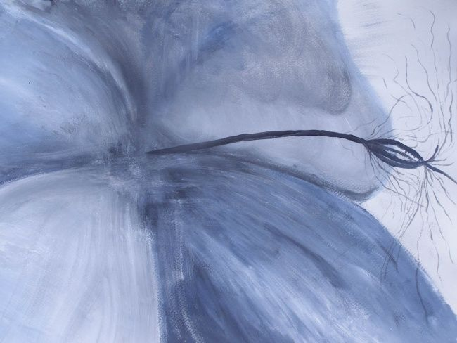 """Painting titled """"Dispositon in blue"""" by Iluvar, Original Art, Oil"""