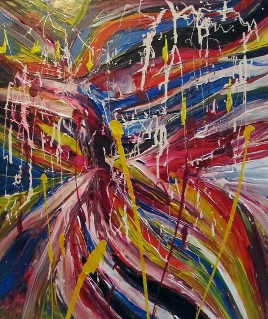 Cores - Painting,  60x50 cm ©2012 by Imabstrato -                            Abstract Art, abstract, modern art, abstract expressionism, abstrato