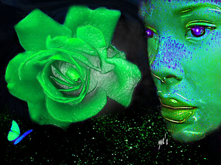 rose verte digital arts by yve s artmajeur eur