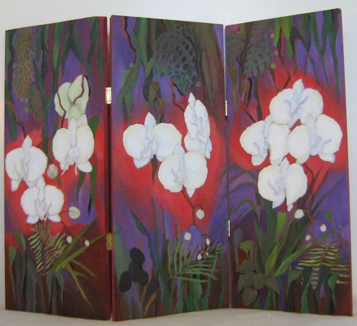 """Painting titled """"The Jungle"""" by Inara Cedrins, Original Art,"""