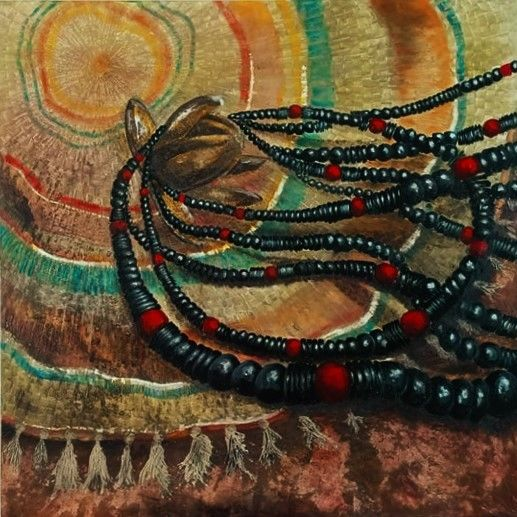 """Painting titled """"Necklaces"""" by India O'Hara Andreoli, Original Art, Acrylic"""
