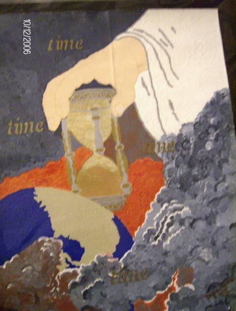 Time - Painting,  16x12 in, ©2006 by Tonjua Lyles -                                                              acrylic paintings