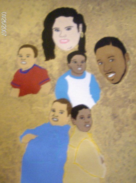 The Palmer Family - Painting,  16x12 in ©2007 by Tonjua Lyles -            acrylic paintings