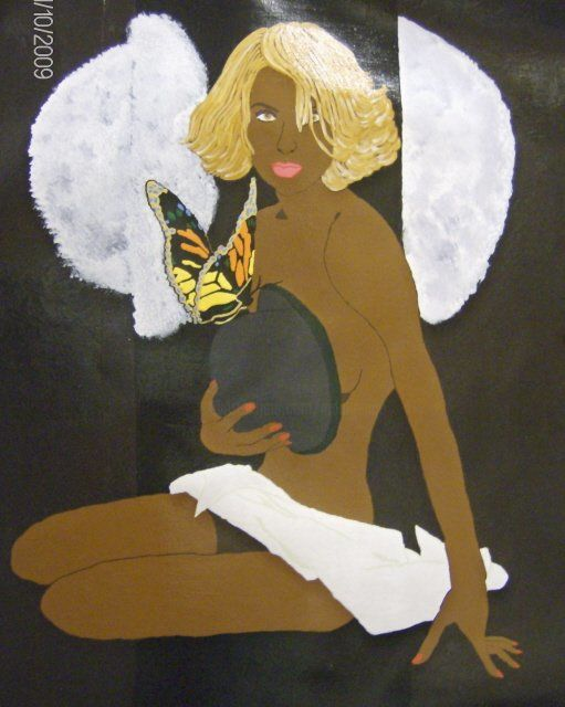 Body & Soul! - Painting,  24x18 in, ©2009 by Tonjua Lyles -                                                              acrylic paintings