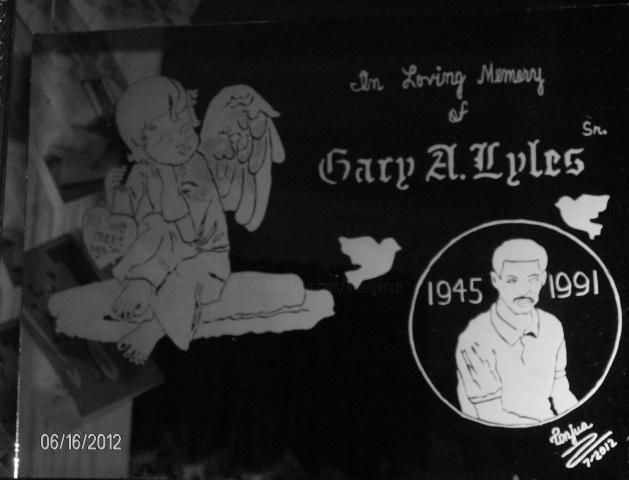 In Memory of #1 - Painting, ©2012 by Tonjua Lyles -                                                                                                          memory, loved one