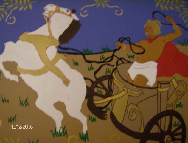 Gary's Chariot - Painting,  16x20 in, ©2006 by Tonjua Lyles -                                                                                                              People, private