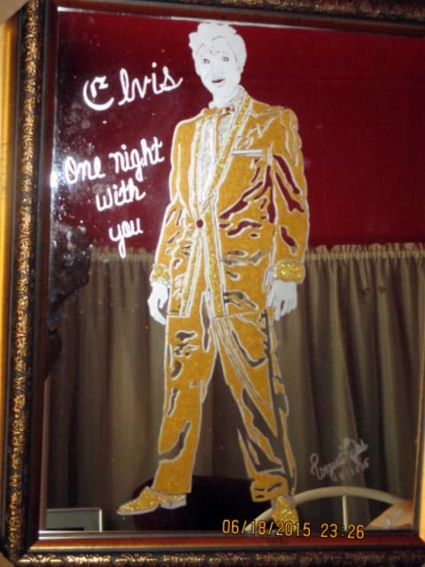Elvis, One Night With You - Painting, ©2015 by Tonjua Lyles -                                                              elvis