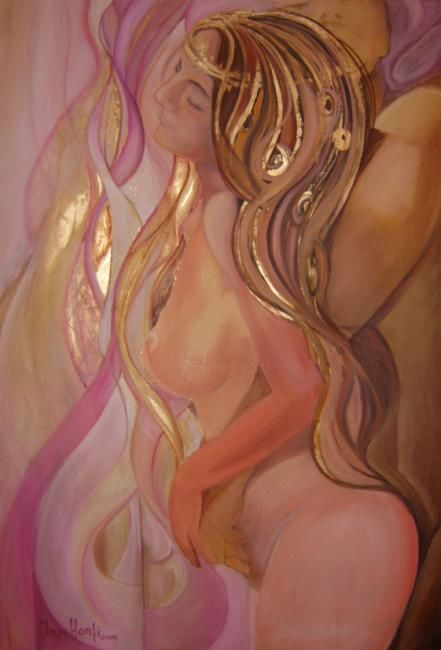 """Painting titled """"The Embrace"""" by Kallan Diosa, Original Art,"""