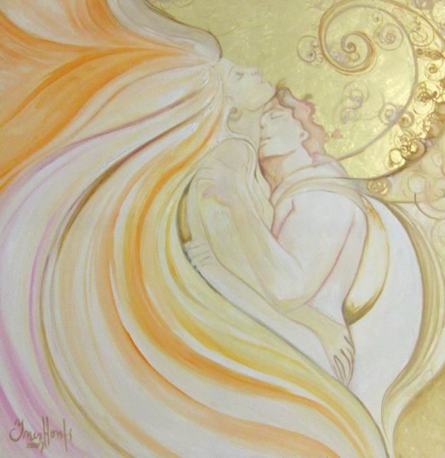 """Painting titled """"Angels in Love"""" by Kallan Diosa, Original Art,"""