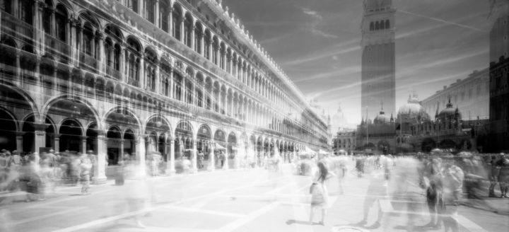 Changes in Consciousness - Photography,  36.6x78.7 in, ©2012 by Arsen Revazov -                                                                                                                                                                                                                                                                                                                                                                                                                                                      Abstract, abstract-570, artwork_cat.Cityscape, cityscape, venice, analog photography, infrared, Limited Edition, Black and White