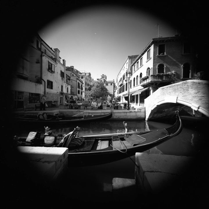 Venice from a far - Photography, ©2012 by Arsen Revazov -                                                                                                                                                                                                                                                                                                                                                                                      Architecture, Black and White, artwork_cat.Cityscape, analog photography, black and white, venice, Limited Edition, Black and White