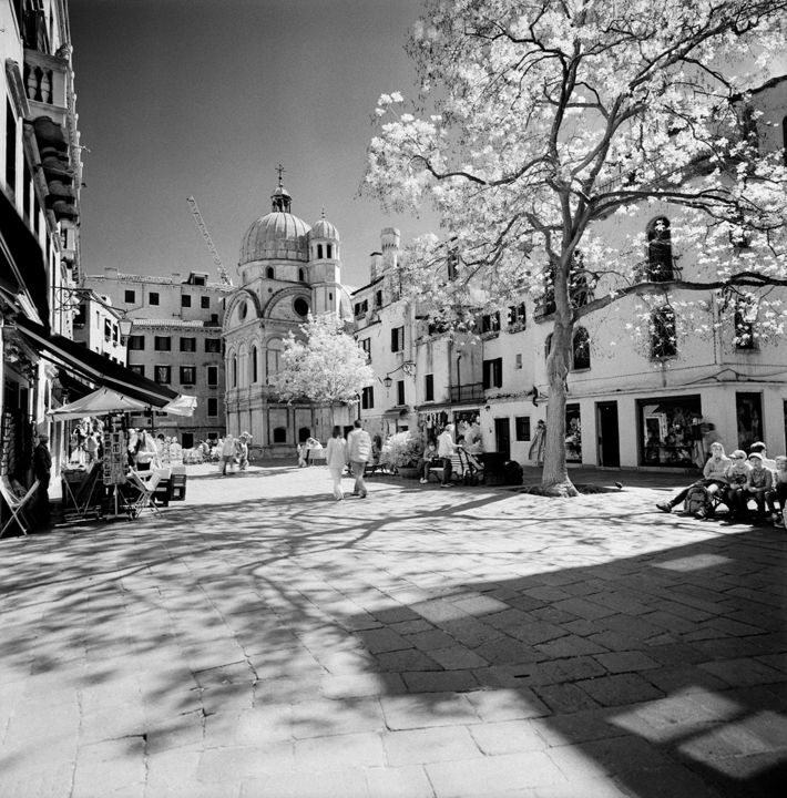 Miracoli Sunny and Spotty - Photography, ©2014 by Arsen Revazov -                                                                                                                                                                                                                                                                                                                                                                                                                                                                                                                          Architecture, Black and White, artwork_cat.Cityscape, Landscape, venice, landscape, black and white, analog photography, cityscape, Limited Edition, Black and White