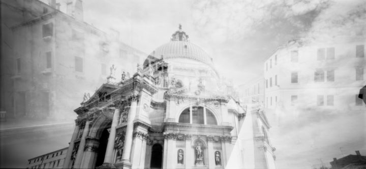 Venetian Dizziness - Photography, ©2012 by Arsen Revazov -                                                                                                                                                                                                                                                                                                                                                                                                                                                                                                                                                                      Architecture, Black and White, artwork_cat.Cityscape, Landscape, venice, analog photography, black and white, infrared, landscape, cityscape, Limited Edition, Black and White