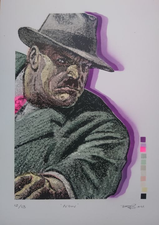 """Printmaking titled """"Now"""" by Dylan Bell (Bells Galleries), Original Art, Spray paint"""