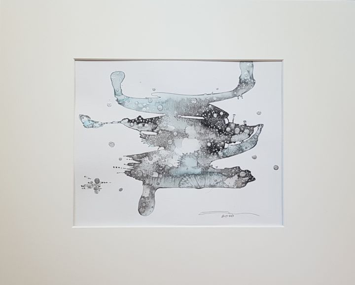 """Drawing titled """"D'autres mondes. Ch…"""" by Laura Potet, Original Art, Ink"""