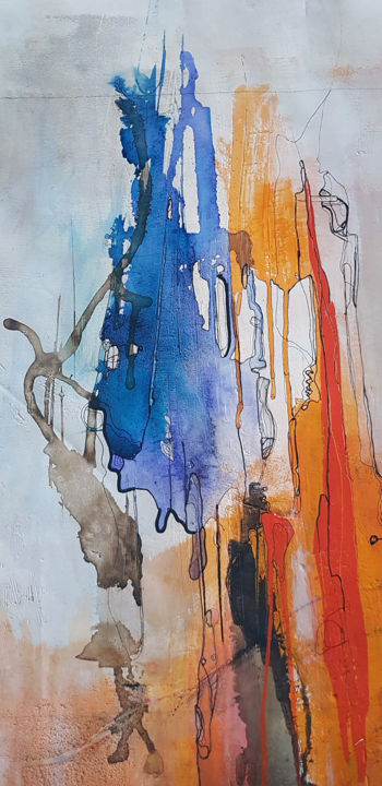 """Painting titled """"Mulitcolor magma"""" by Alexia Lavanchy, Original Art, Acrylic"""