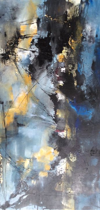 Einblicke - Painting,  100x50x2 cm ©2017 by ingemalt -                                                                        Abstract Art, Abstract Expressionism, Canvas, Abstract Art, abstrakte malerei, abstrakter expressionismus