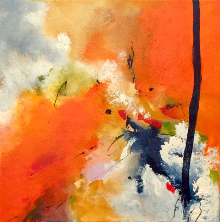 Painting, acrylic, abstract, artwork by Ingemalt