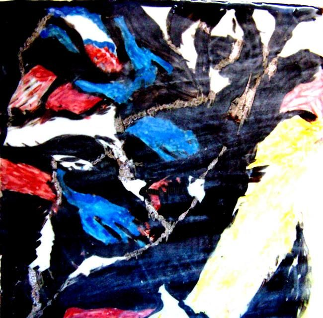 Mostly Black - Painting, ©2010 by Ingrid Ohayon -                                                                                                                                                                          Abstract, abstract-570, Mostly Black