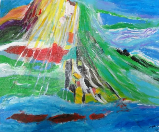 Composition 2 - Painting, ©2011 by Ingrid Ohayon -