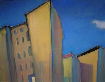 Berlinciel Bleu Painting By Inna Skliarevskaia Artmajeur