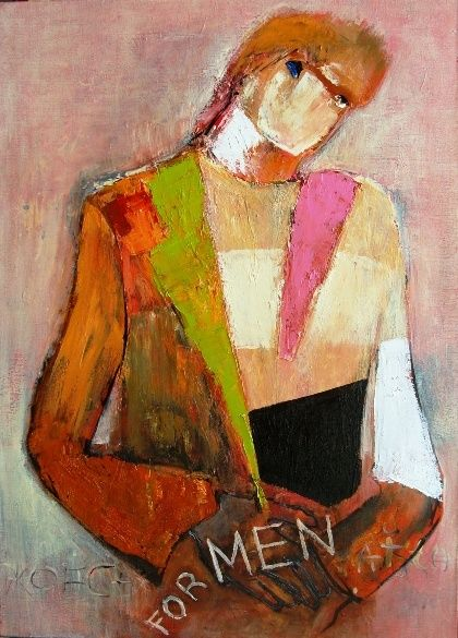 Для мужчины - Painting,  50x70 cm ©2011 by Tana -                            Abstract Expressionism, For the man