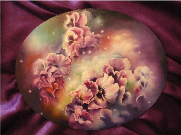 """Painting titled """"Pansies's dream"""" by Mihai Ionescu, Original Art, Oil"""