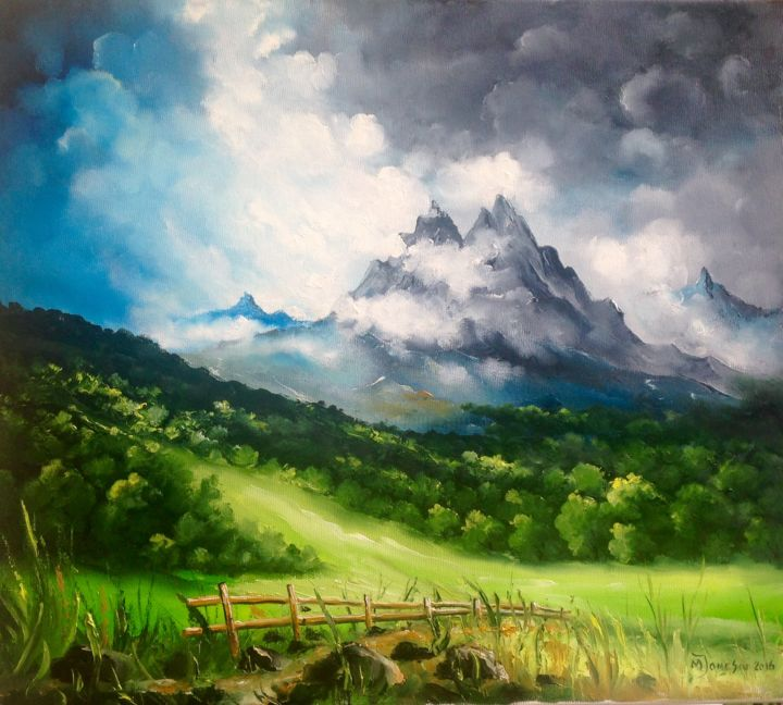"""Painting titled """"Overview"""" by Mihai Ionescu, Original Art, Oil"""