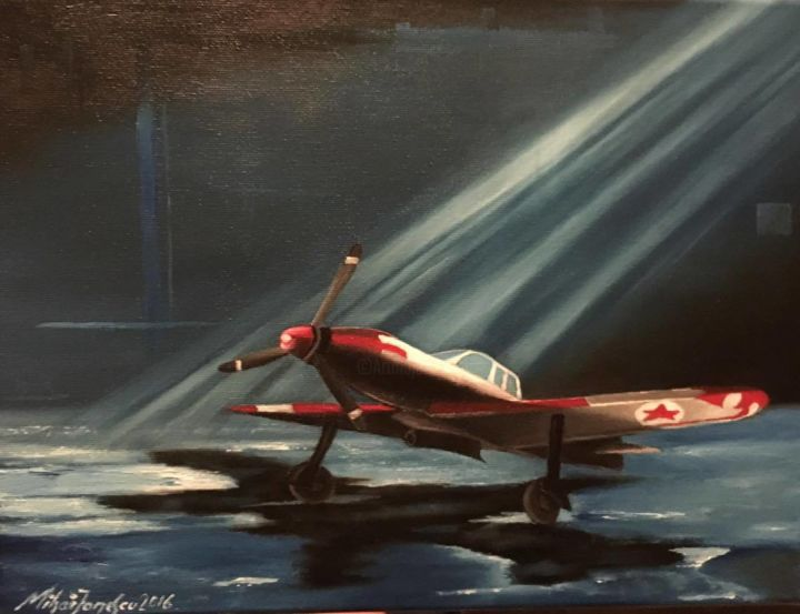 """Painting titled """"WW airplane"""" by Mihai Ionescu, Original Art, Oil"""