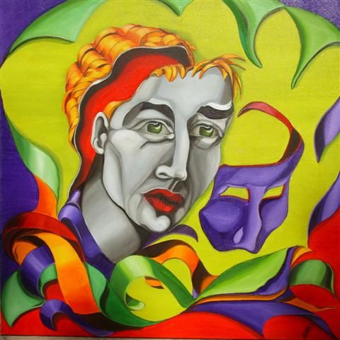 Painting,  80 x 80 cm ©2011 by mara -  Painting, Art Deco