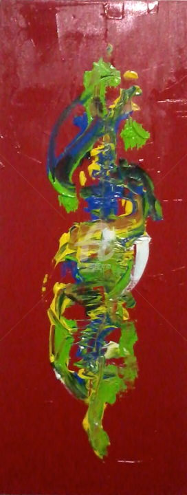 Chinese inspiration - Peinture,  39,4x15,8x1,2 in, ©2015 par Ioshua Carvalho -                                                                                                                                                                                                                                                                                                                                                                                                                                                                                                  Abstract, abstract-570, Art abstrait, chinese, mental, acrylic, abstract, art, colours, mixed