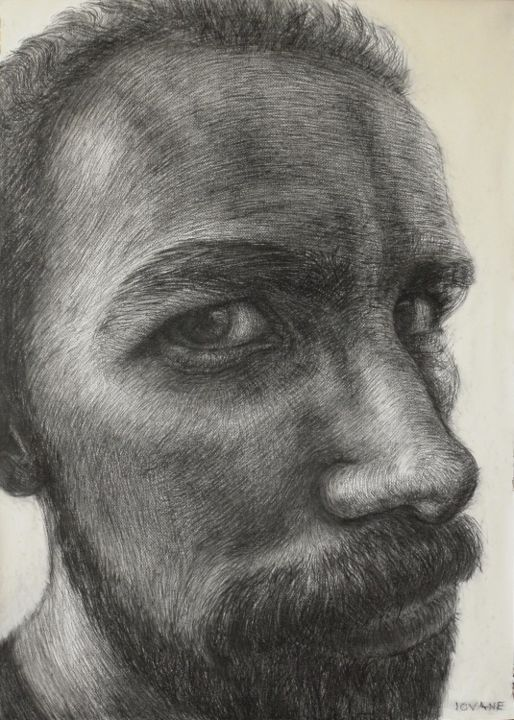 """Drawing titled """"Autoportret   desen"""" by Iovane, Original Art, Other"""