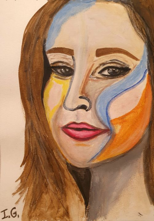 """Painting titled """"Once"""" by Irena Goftman, Original Art, Watercolor"""