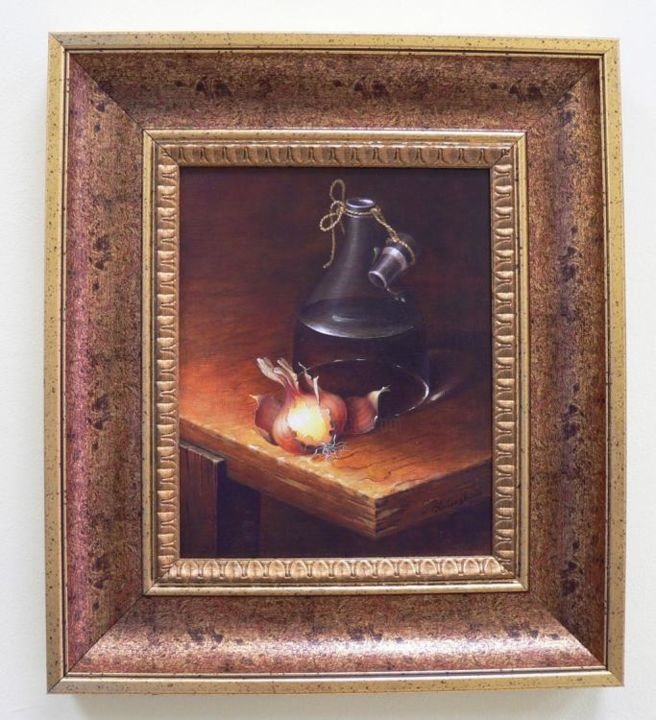 """Painting titled """"still life with oni…"""" by Irena Lutinskaite, Original Art,"""
