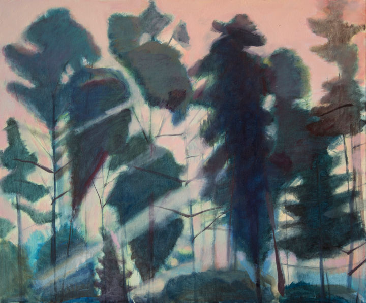 Silhouettes II - Painting,  19.7x23.6x0.8 in, ©2017 by Irena Luse -