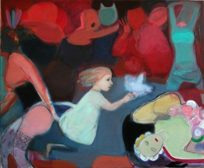 Carneval - Painting,  39.4x47.2 in, ©2007 by Irena Luse -