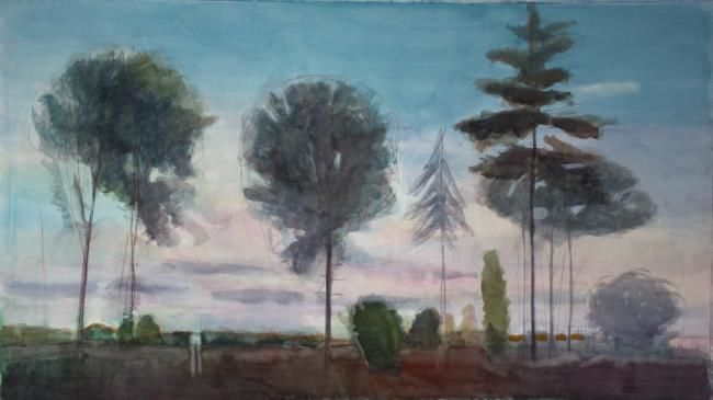 Landscape - Painting,  110x70 cm ©2012 by Irena Luse -
